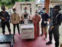 Ilato Brimob Gorontalo Pastikan Pendistribusian Vaksin Aman Terkendali